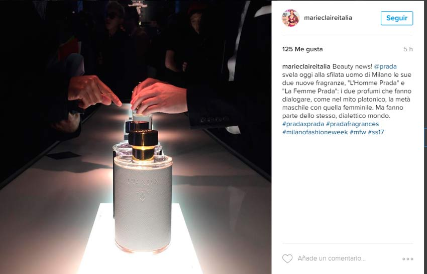International launch of the fragrances, L'homme and La femme – Milan